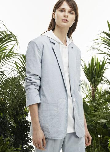 Women's Fashion Show Seersucker Blazer