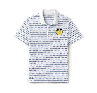 Men's Yazbukey Edition Slim Fit Striped Jacquard Polo Shirt