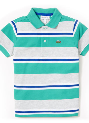 Kids' Petit Piqué Striped Polo Shirt