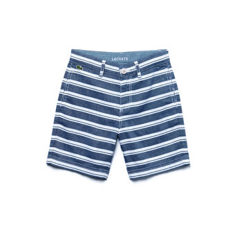Kids' Chambray Striped Bermuda Shorts