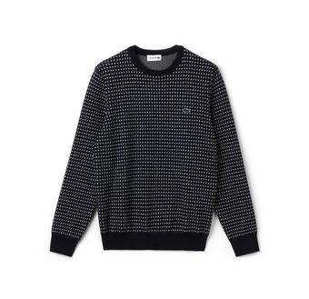 "Men's ""Kinetic"" Intarsia Pattern Crewneck Sweater"