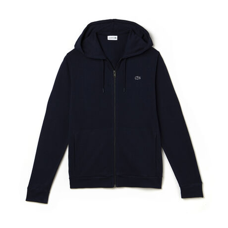 Men's Hooded Zippered Fleece Sweatshirt