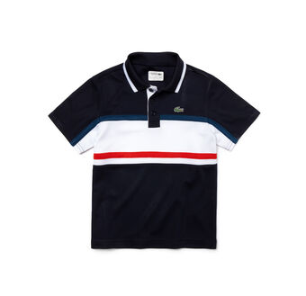 Kids' SPORT Contrast Band Tennis Polo Shirt