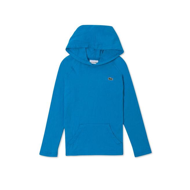 Boy's Hooded Cotton Jersey Sweatshirt