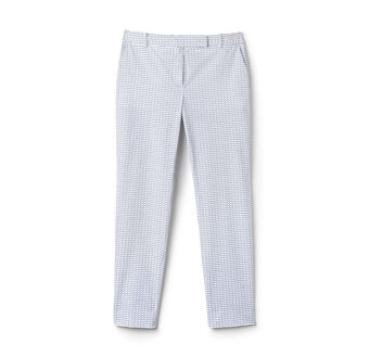 Women's Gingham Cotton Cigarette Pants