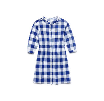 Kids' Gingham Poplin Shirt Dress