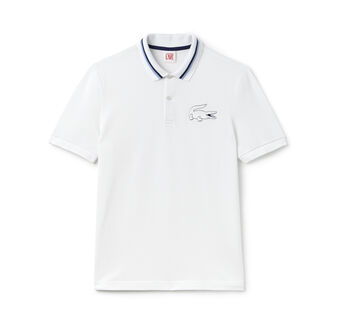 Men's L!VE Contrast Crocodile Polo Shirt