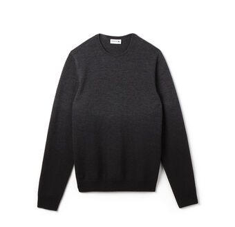 Men's Holiday Gradient Wool Crewneck Sweater