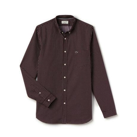 Men's Slim Fit Poplin Print Shirt