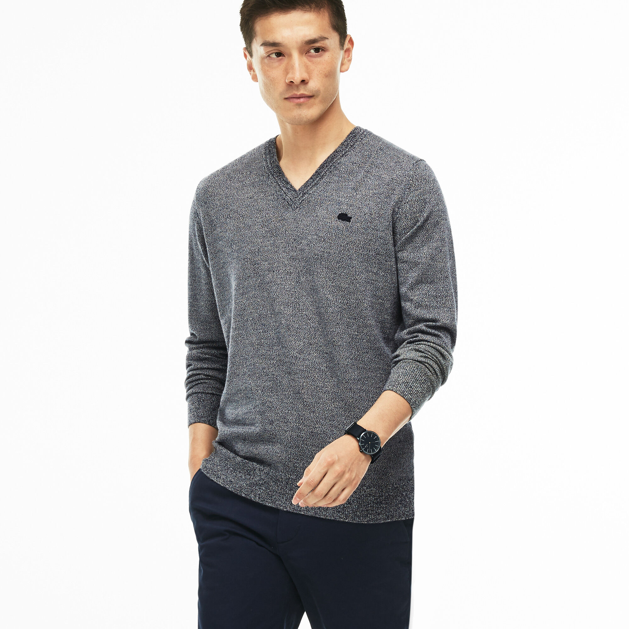 Black Lacoste Jumper Sale