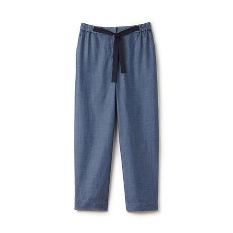Women's Tie Belt Chambray Cargo Pants