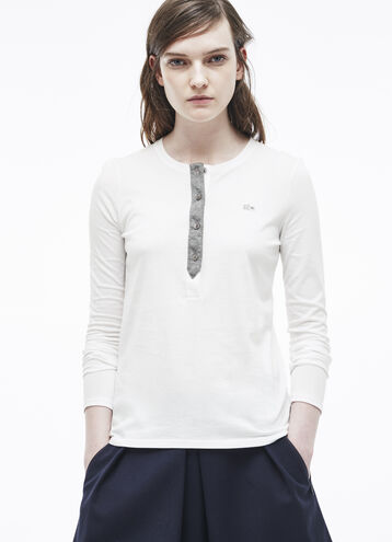 Contrast Placket Henley