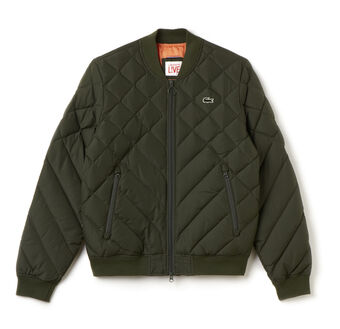 Men's L!VE Diamond Quilted Down Bomber Jacket