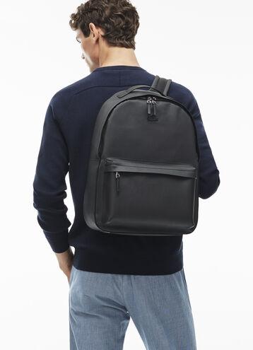 Men's Chantaco Monochrome Coated Leather Backpack