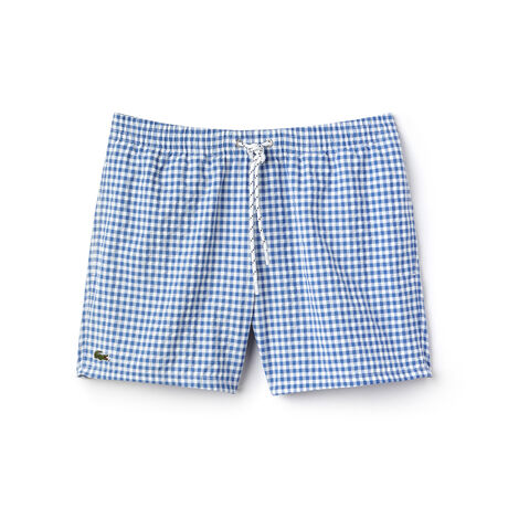 Men's Checked Swim Trunks