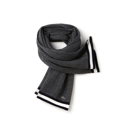 Women's Cable Knit Wool Blend Scarf