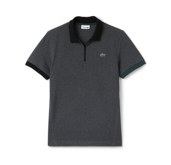 Men's SPORT Lifestyle Zip Placket Superlight Tennis Polo Shirt
