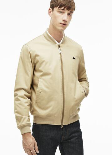 Men's Lacoste L!VE Zippered Twill Harrington Jacket