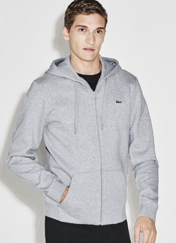 Men's SPORT Hooded Zippered Back Print Tennis Sweatshirt