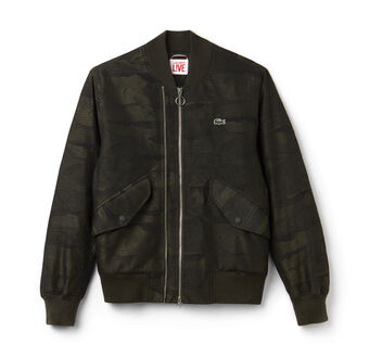 Men's L!VE Double Zip Twill Bomber Jacket