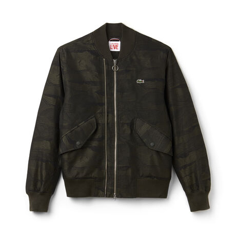 Men's L!VE Double Zip Twill Bomber Jacket