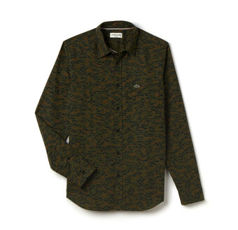 Men's Camouflage Print Oxford Woven Shirt