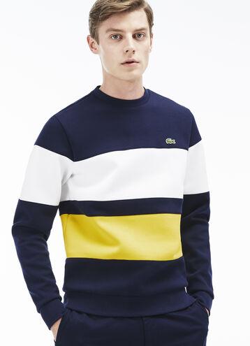 Men's Color Block Fleece Sweatshirt