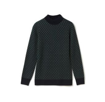 Women's Mini Jacquard Wool Turtleneck Sweater
