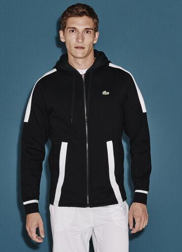 Men's SPORT Tennis Zippered Hooded Sweatshirt