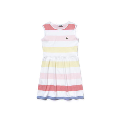 Girl's Jersey Multicolor Print Flamme Dress