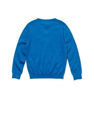 Boy's V-Neck Cotton Sweater