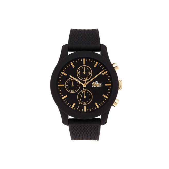 Unisex Lacoste.12.12 Black Chronograph Watch
