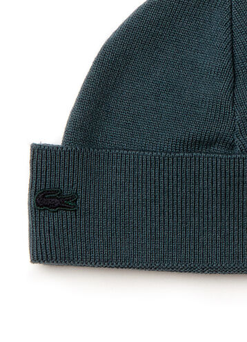 Women's Wool And Cotton Beanie With Contrast Cuff