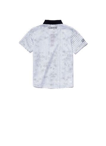 Kids' SPORT Print Piqué Tennis Polo Shirt