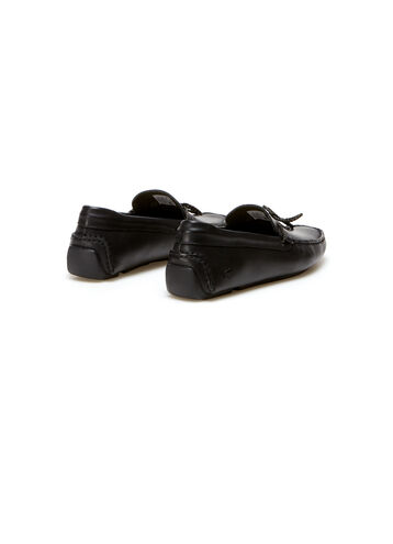 Men's Pilote Cord Accent Leather Loafers