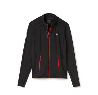 Men's SPORT Full Zip Stretch Jersey Tennis Sweatshirt Jacket