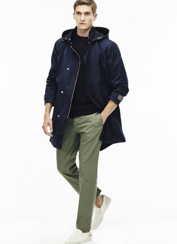 Men's Hooded Waterproof Technical Fabric Parka