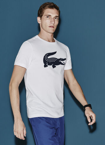 Men's SPORT Oversized Crocodile Crew Neck Tennis T-Shirt