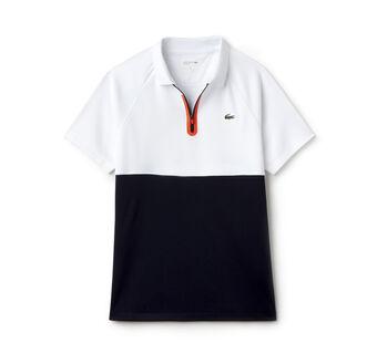 Women's SPORT Zip Neck Colorblock Tennis Polo Shirt