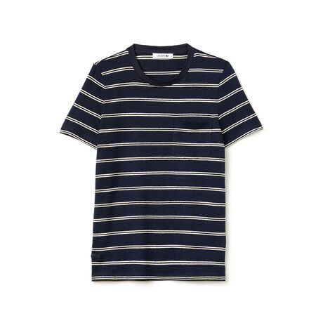 Women's Fashion Show Striped Jersey Pocket T-Shirt