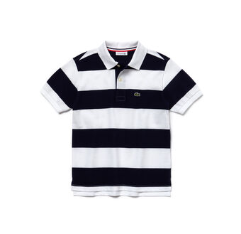 Boy's Bar Stripe Polo Shirt