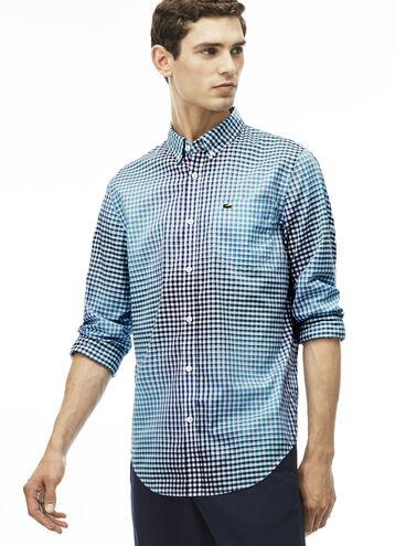 Men's Slim Fit Checked Poplin Shirt