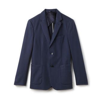 Men's 2-Button Cotton Blend Piqué Suit Jacket