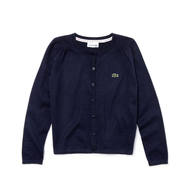 Kids' Crew Neck Contrast Accent Sweater
