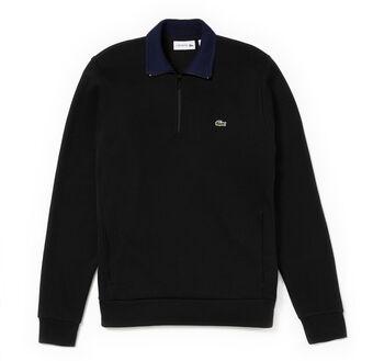 Men's Ribbed Cotton Stand-Up Collar Sweatshirt