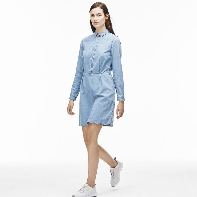 Women's L!VE Fitted Denim Shirt Dress