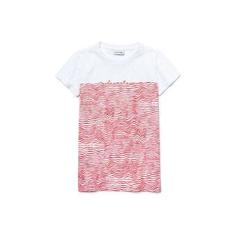 Kids' Wavy Stripe Print Jersey T-Shirt