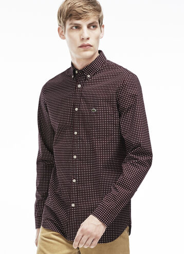 Men's Slim Fit Poplin Print Shirt