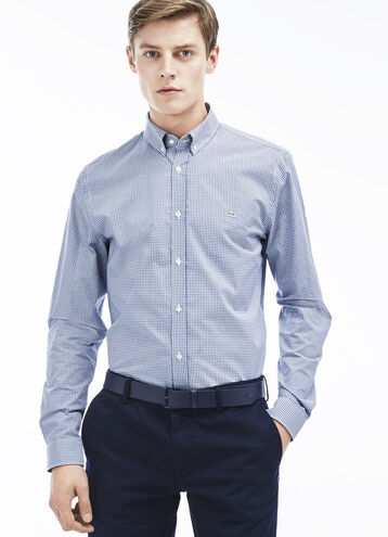 Men's Gingham Poplin Woven Shirt