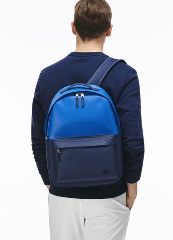 Men's Chantaco Colorblock Piqué Coated Leather Backpack